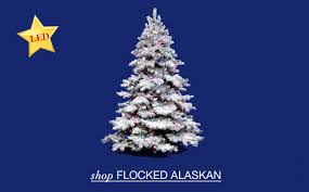 flocked artificial trees santa s quarters