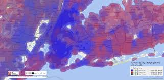 New York Political Map by Data Density Maps For Registered Voters Moonshadow