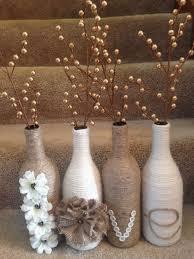 vasi decorativi come riutilizzare le bottiglie di vetro