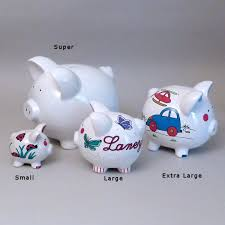 Customized Piggy Bank Personalized Piggy Bank With Hand Painted Butterflies
