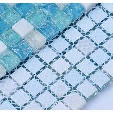 Marble Mosaic Backsplash Tile by Stone Glass Mosaic Tiles Blue Ice Crystal Backsplash Tile