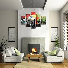 5 piece oil painting cheap china online wholesale buy stores handpainted musical instrument guitar piano saxophone oil painting on canvas wall art pictures home decor