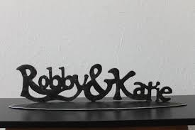 iron wedding anniversary gifts your names written in iron personalized wedding gift family name
