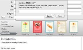 mac 101 create custom email stationery