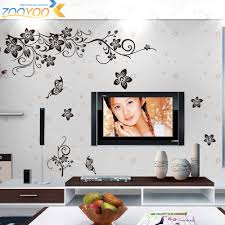 wholesale hot sellings 130 80cm classical black flower wall art 027 3 027 01