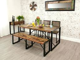 rustic dining table with bench likeable dining table and bench set in lovely rustic writers bloc