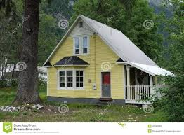 a simple house at stewart canada stock photo image 42286606
