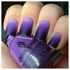 aubrey hannah purple ombre nails tutorial