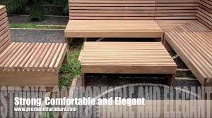 Teak Sectional Patio Furniture - teak outdoor furniture linier sofa youtube