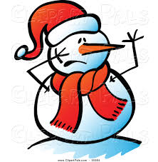 pal clipart of a snowman with a scared face by zooco 55694