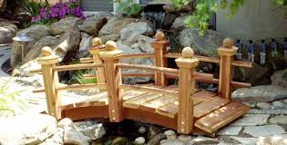 small garden bridge 5 foot garden bridge with posts and double rails