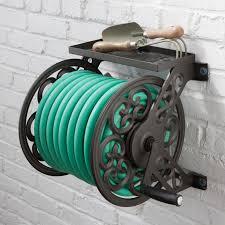 decorative garden hose holder wall mount home design ideas and
