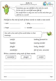 prefixes and suffixes worksheets
