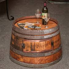whiskey barrel side table wine barrel coffee table wine enthusiast