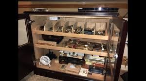 cigar humidor display cabinet custom cabinet humidor tour youtube