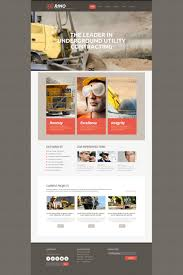 mining company flash cms template 48682