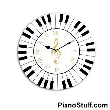 music gifts piano keyboard wall clock