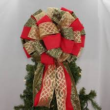 christmas tree bow topper christmas tree topper bows package bows