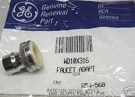 Faucet For Portable Dishwasher Wd10x316 Ge Portable Dishwasher Faucet Adapter Aerator Ps258860 Ebay