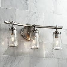 brushed nickel bathroom light fixtures poleis 3 light 24 wide brushed nickel bath light 9g439 ls plus