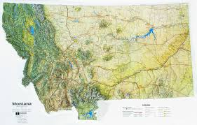 montana maps montana state raised relief map ncr color relief