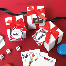 party favours bond theme party favours box door gifts wedding karren
