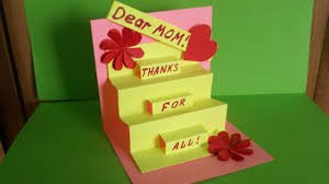 how to make a greeting pop up card for mom birthday mother u0027s day