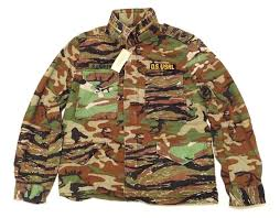 Denim And Supply Jacket Vado Wearing Denim And Supply Green Patched Field Camo Twill