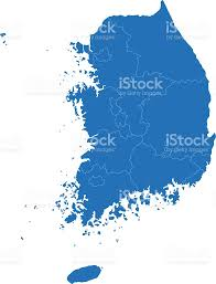World Map Simple Vector by South Korea Simple Blue Map On White Background Stock Vector Art