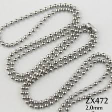 metal ball chain necklace images 200pcs lot 2mm bead chain stainless steel ball chain with waist jpg