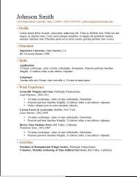 Completely Free Resume Template 36 Best Simple Resume Template Images On Pinterest Resume