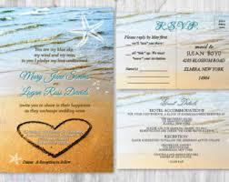 beachy wedding invitations blue wedding invitation watercolor