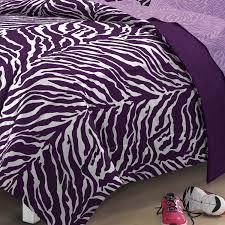 my room zebra complete bed in a bag bedding set purple walmart com