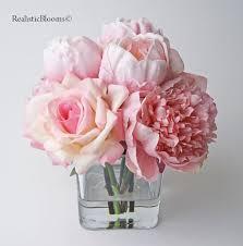 silk peonies pink blush silk peony peonies faux water acrylic