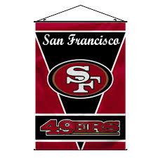 amazon com nfl san francisco 49ers wall banner sports fan wall