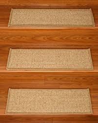 amazon com dean attachable non skid sisal carpet stair treads