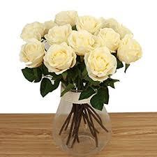 Fake Flowers For Home Decor Amazon Com Bringsine Artificial Flowers Silk Flowers Artificial