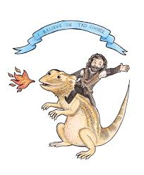 king richard and his lizarddragon tad cooper from galavant