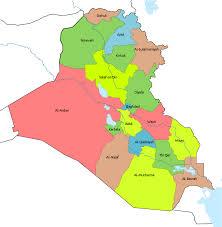 map of irak governorates of iraq