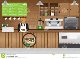 coffee shop stock illustration image 92046598