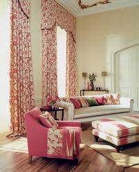 Red Damask Wallpaper Home Decor 53 Living Rooms With Curtains And Drapes Eclectic Variety
