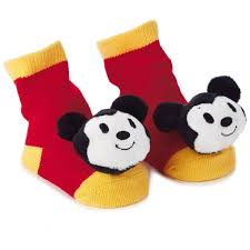 thanksgiving mickey mouse mickey mouse itty bittys baby rattle socks baby clothes hallmark