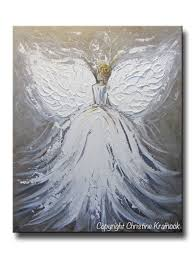 Angel Decorations For Home by Custom Original Abstract Angel Painting Boy Guardian Angels Art 2