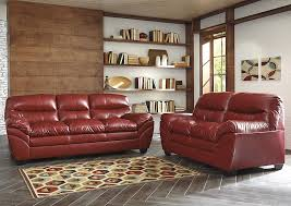 Durablend Leather Sofa Samson Furniture Pa Tassler Durablend Crimson Loveseat
