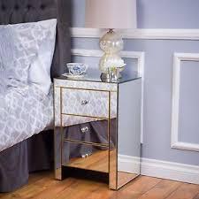 Mirrored Side Table Mirrored Nightstand Ebay