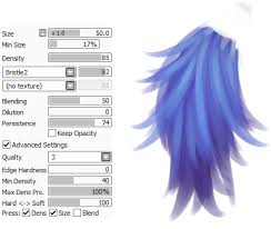 latest fashion book paint tool sai fur brush set by