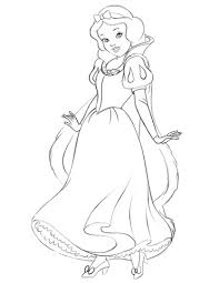 snow white coloring free printable coloring pages