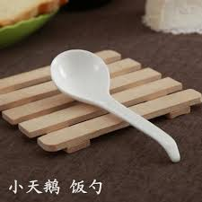 2017 wholesale plain white bone china catering korean spoon big