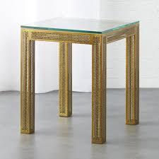 Glass Sofa Table Modern Side Tables Cb2
