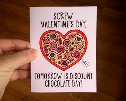 anti s day cards discount chocolate day anti valentines day card with envelope blank